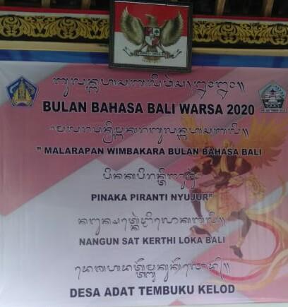Bulan Bahasa Bali Warsa 2020 Desa Adat Tembuku Kelod