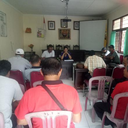 Rapat perbekel  Bersama  Anggota BPD,  Rekanan,  dan TPK