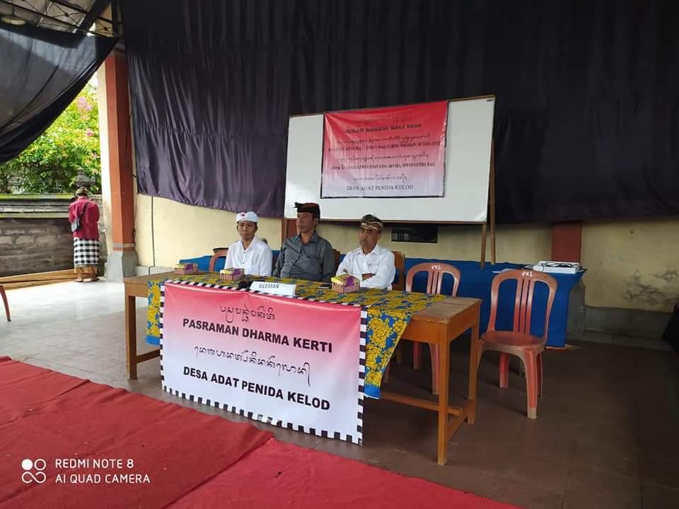 Bulan Bahasa Bali Warsa 2020 Banjar Adat Penida Kelod