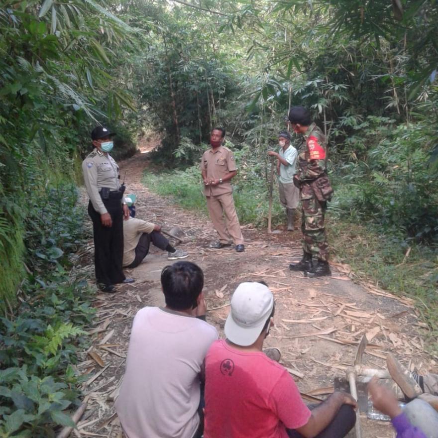 Kunjungan Trides Desa Tembuku ke Tegalasah