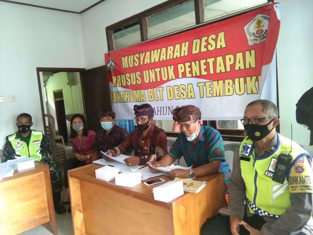 Musyawarah Desa Khusus Penetepan Penerima BLT DD Desa Tembuku T. A 2021