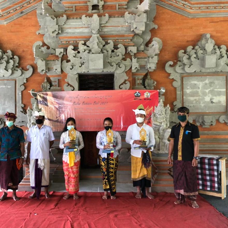 Acara Bulan Bahasa Bali Desa Tembuku Tahun 2021