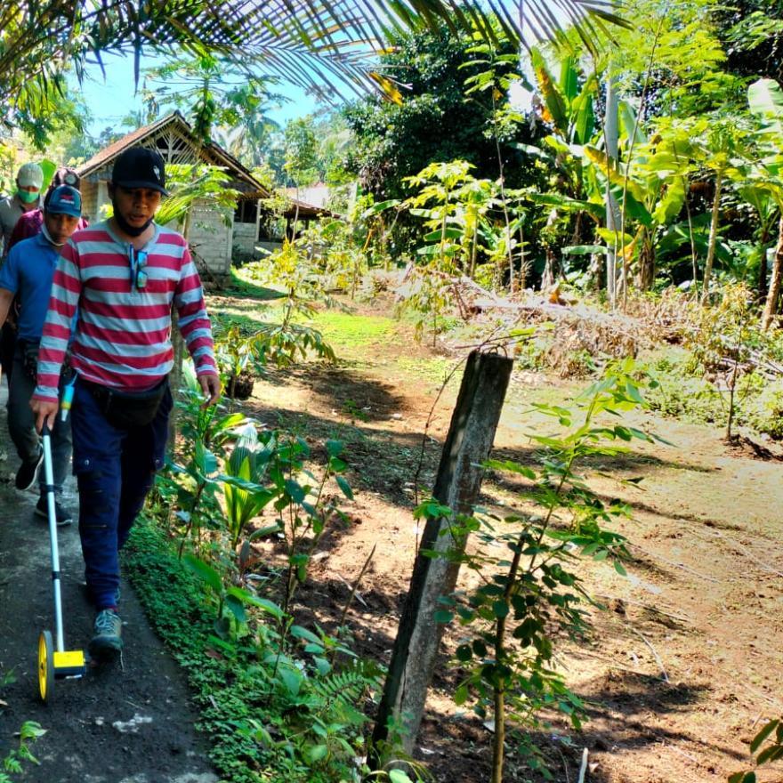 Survey Lokasi Program Rencana Kerja Pemerintah Desa Tembuku Tahun Anggaran 2022