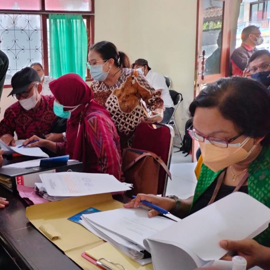 Monitoring Program Kotaku Lokasi Reguler  Dari Tim Balai Propinsi Dan Tim BPKP Propinsi