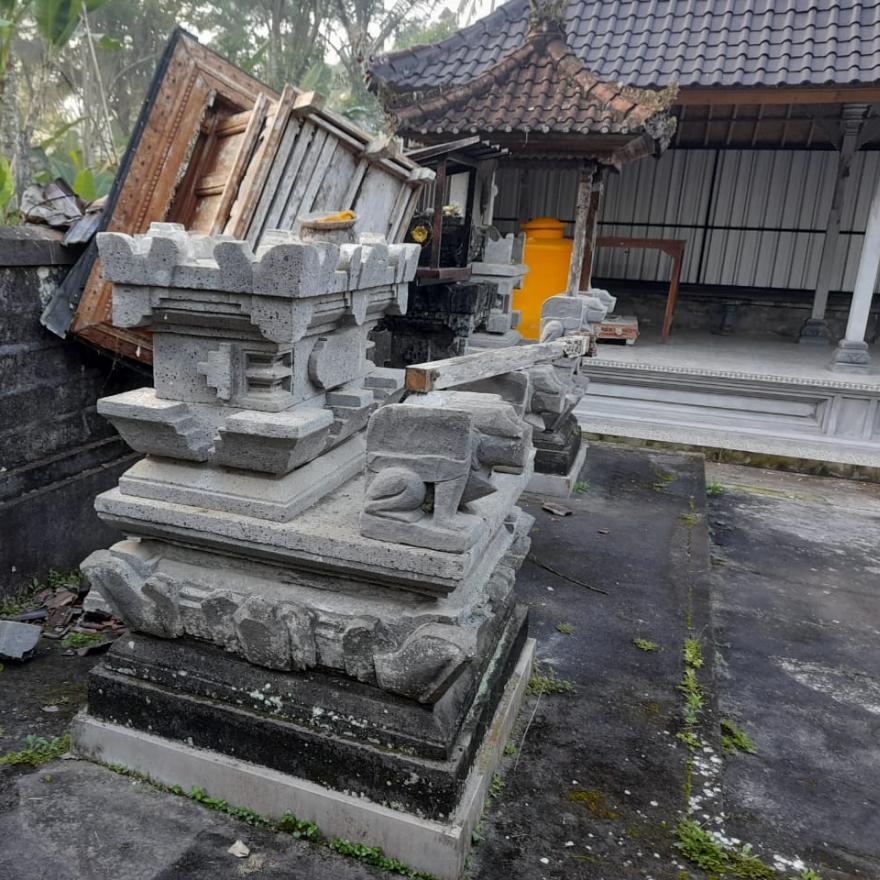Dampak Gempa Magnitudo 4,8 SR Di Desa Tembuku